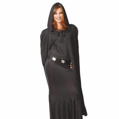 Goedkoop halloween cape zwart capuchon carnavalskleding