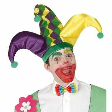Goedkoop harlekijn hoed volwassenen carnavalskleding