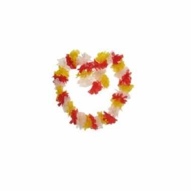 Goedkoop  Hawaii krans rood/geel/wit carnavalskleding