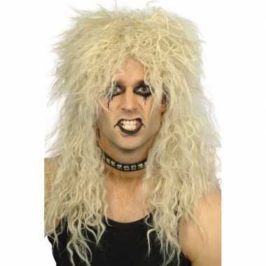 Goedkoop heren krulletjes pruik blond carnavalskleding