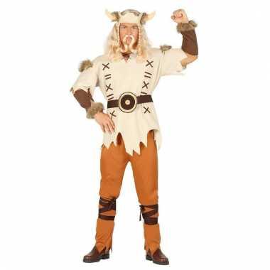 Goedkoop heren vikings carnavalskleding bruin