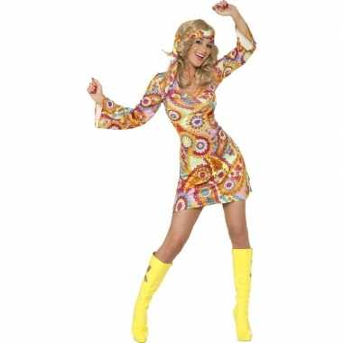 Goedkoop hippie jurkje dames carnavalskleding