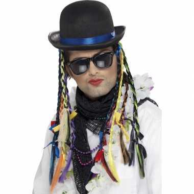 Goedkoop hoed vlechten karma club carnavalskleding