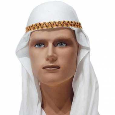 Goedkoop  Hoofdkap Arabier wit goud carnavalskleding