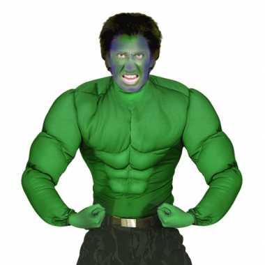 Goedkoop hulk spierbal t-shirt heren carnavalskleding