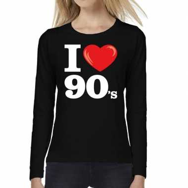 Goedkoop i love shirts dames zwart s bedrukking carnavalskleding