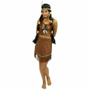 Goedkoop indianen jurkje prarie franjes carnavalskleding