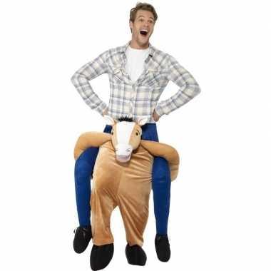 Goedkoop instap dierencarnavalskleding carnavalskleding paard volwass
