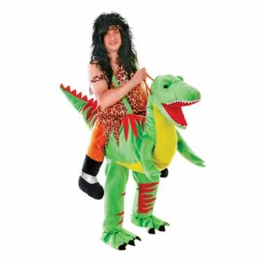 Goedkoop instap dinosaurus carnavalskleding volwassene