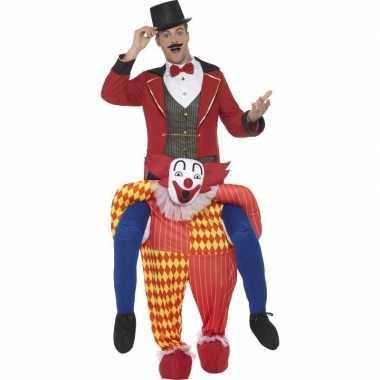 Goedkoop instapcarnavalskleding circus clown volwassenen