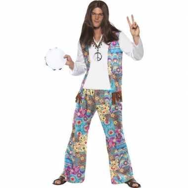 Goedkoop jaren hippie carnavalskleding groovy heren
