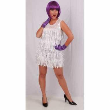 Goedkoop jaren jurkje wit carnavalskleding