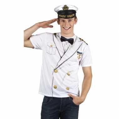 Goedkoop kapiteins carnavalskleding herenshirt