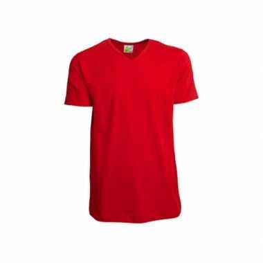 Goedkoop katoenen lemon soda heren rood v hals shirt carnavalskleding