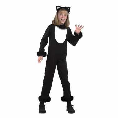 Goedkoop katten/poezen onesie carnavalskleding kids