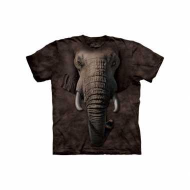Goedkoop  Kids dieren shirts olifant carnavalskleding