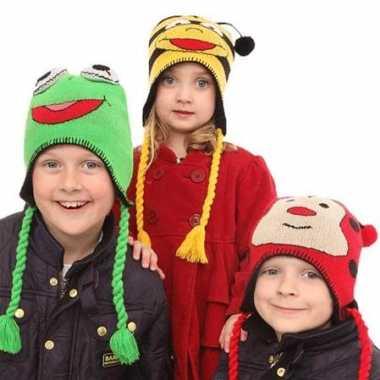 Goedkoop kikker sherpa muts kinderen carnavalskleding
