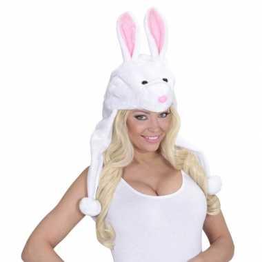Goedkoop konijnen feestmuts volwassenen carnavalskleding