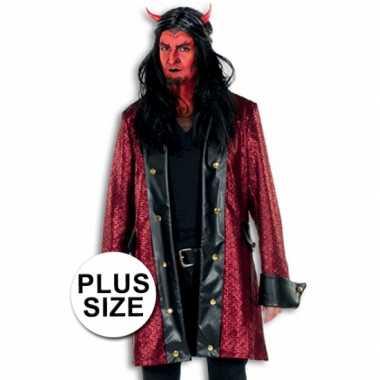 Goedkoop  Lange verkleed jas duivel grote maat carnavalskleding