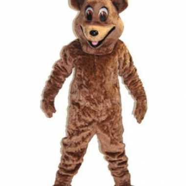 Goedkoop luxe mascotte bruine vrouwtjes beer carnavalskleding
