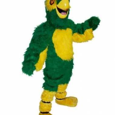 Goedkoop luxe papegaaien mascottes carnavalskleding