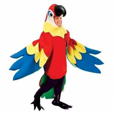 Goedkoop luxe papepaaien carnavalskleding volwassenen