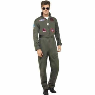 Goedkoop luxe straaljager top gun piloten carnavalskleding heren