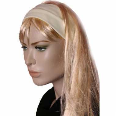 Goedkoop  Lycra haarband geel carnavalskleding
