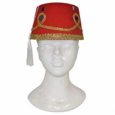Goedkoop marokkaans hoedje decoratie volwassenen carnavalskleding