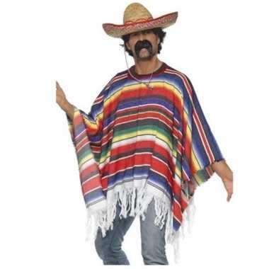 Goedkoop mexicaans carnavalskledings poncho sombrero