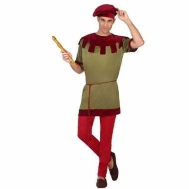 Goedkoop middeleeuws page verkleed carnavalskleding heren