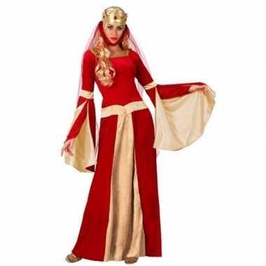 Goedkoop middeleeuwse koningin verkleed jurk dames carnavalskleding