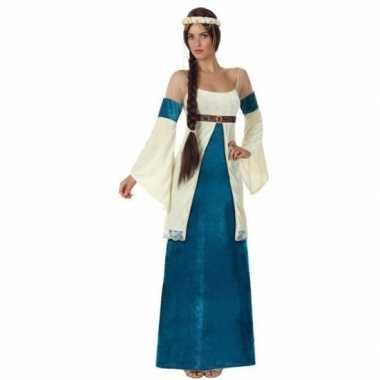 Goedkoop middeleeuwse prinses verkleed jurk dames carnavalskleding