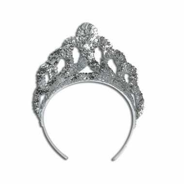 Goedkoop  Mooie zilveren prinsessen tiara carnavalskleding
