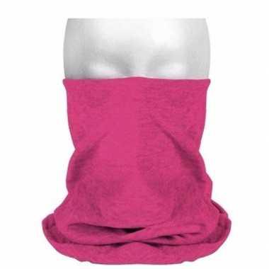 Goedkoop morph sjaal roze carnavalskleding