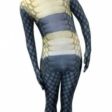 Goedkoop morphsuit cobra slangen print carnavalskleding