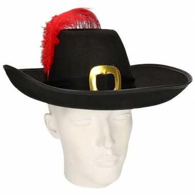 Goedkoop musketier hoed band veer carnavalskleding
