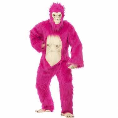 Goedkoop  Neon roze gorilla carnavalskledingken