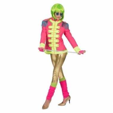 Goedkoop neon roze slipjas dames carnavalskleding