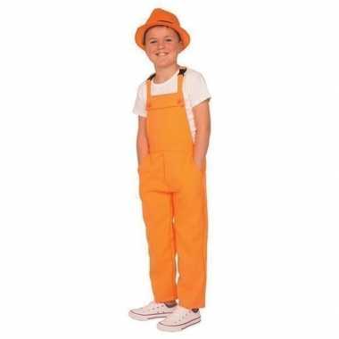 Goedkoop oranje verkleed carnavalskledingl kinderen