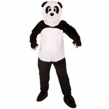 Goedkoop panda beer carnavalskleding mega pluche masker