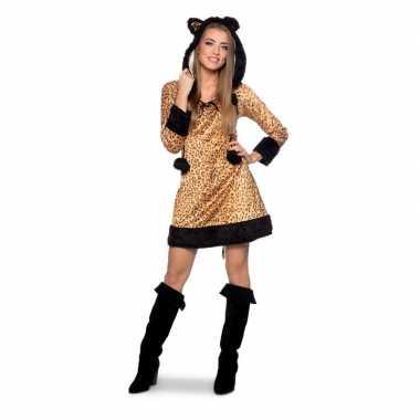 Goedkoop panter dieren carnavalskleding dames
