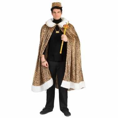Goedkoop panterprint koning cape volwassenen carnavalskleding