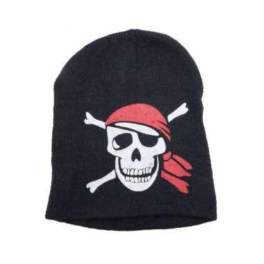 Goedkoop  Piraten mutsje zwart carnavalskleding