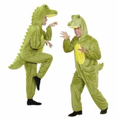 Goedkoop  Pluche dierencarnavalskledingken onesie krokodil
