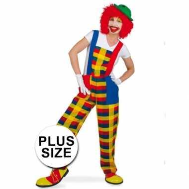 Goedkoop plus size clown pebbi carnavalscarnavalskleding