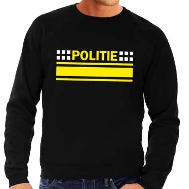 Goedkoop politie logo sweater zwart heren carnavalskleding