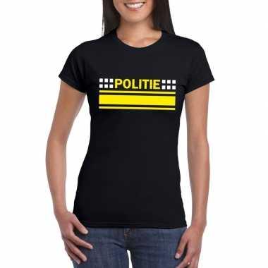 Goedkoop politie logo t shirt zwart dames carnavalskleding