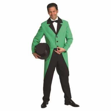 Goedkoop presentator jas groen carnavalskleding