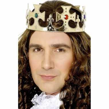 Goedkoop prinsen kroon goud volwassenen carnavalskleding